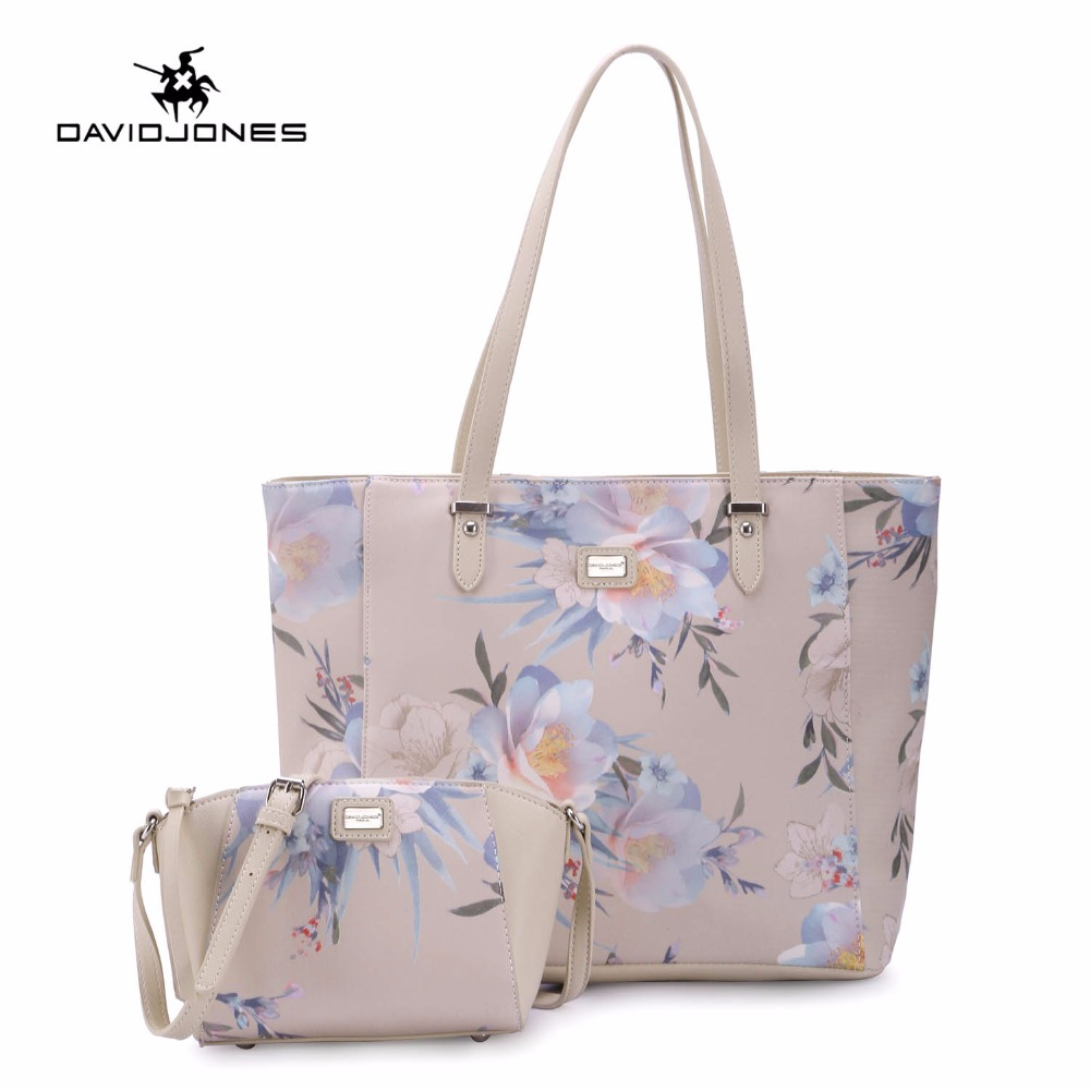 DAVIDJONES 2 PIECE Women Floral Composite bag crossbody messenger femal PU tote bags 0 1 ghz to 2 5 ghz and 70 db logarithmic detector controller ad8313
