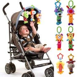Детские погремушки, игрушки, колокольчик, многофункциональная плюшевая коляска, Висячие погремушки с животными, Kawaii, детская игрушка для но...