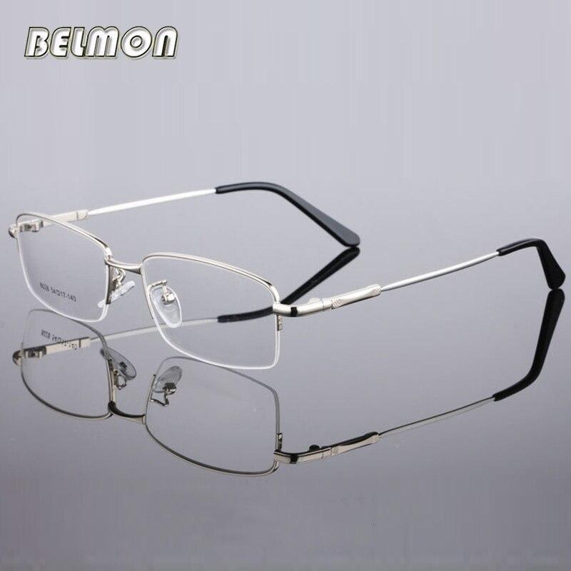 Spectacle Frame Eyeglasses Men Computer Optical Eye Glasses Frame Transparent Clear Lens For Male Armacao de grau RS299