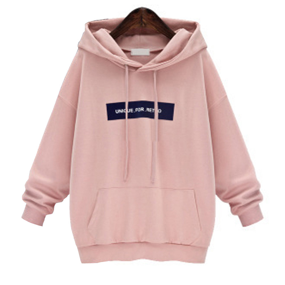 2019 Women Sweatshirt oversized hoodie hip Pop Harajuku letter Print Hoodies Autumn warm pocket Tracksuit size plus 6XL dadera