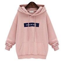 Sudadera para mujer 2019 Sudadera con capucha de gran tamaño hip Pop Harajuku letra impresa sudaderas otoño cálido bolsillo chándal talla plus 6XL dadera