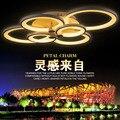 (WECUS) Especial!! personalidade sala de estar lâmpada do teto, forma criativa led lâmpada do teto, série anel de sorte, 6 cabeças
