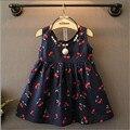 Special offer Girls cherry pattern halter vest dress princess dress