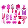 Pretend play móveis toys simulação crianças salão de beleza conjunto de brinquedos crianças Girl Make Up Brinquedo Secador de Cabelo Cosméticos Espelho Menina conjunto