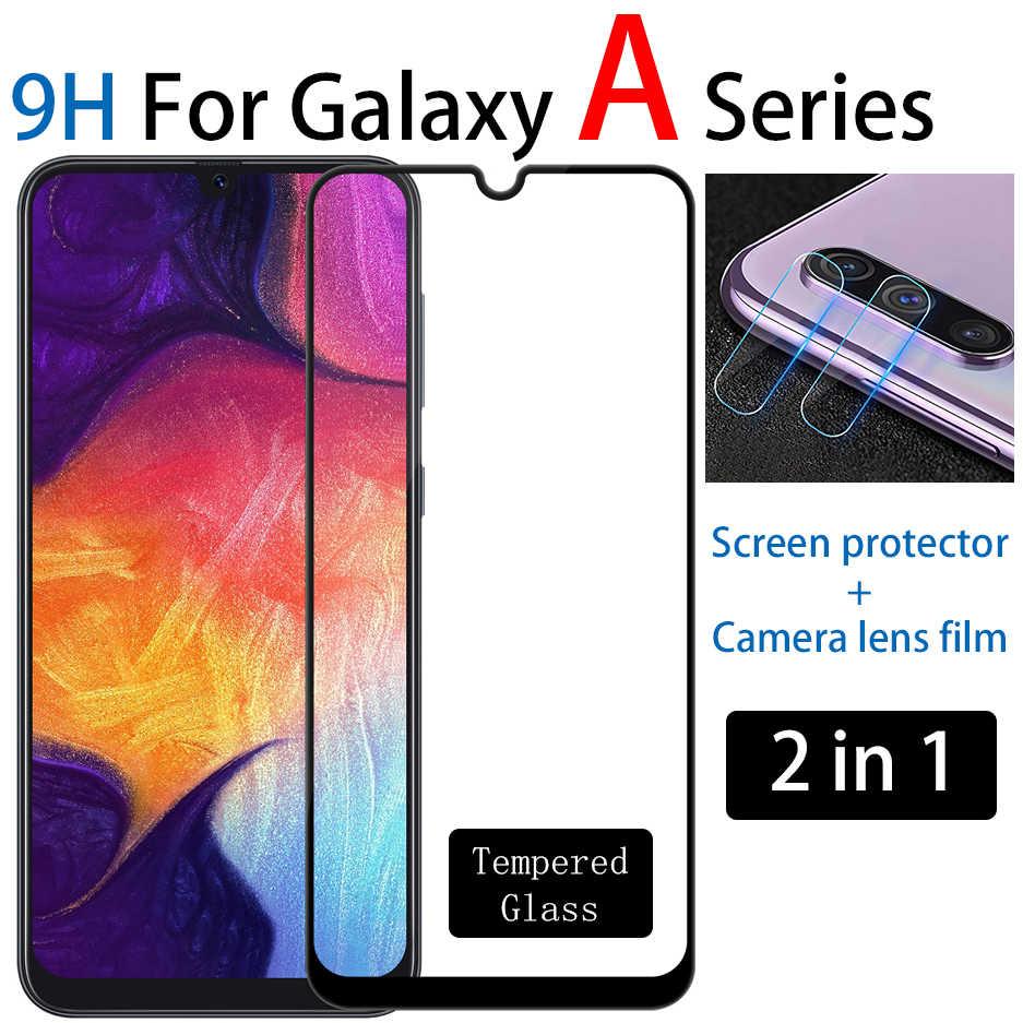 9 H الزجاج المقسى واقي للشاشة ل samsung galaxy a50 a70 a10 a20 a30 a40 a60 a80 a90 كاميرا عدسة لينة فيلم ل samsung a 50