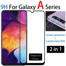 9H tempered glass screen protector glas for samsung galaxy a50 a70 a10 a20 a30 a40 a60 a80 a90 camera lens film for samsung a 50(China)