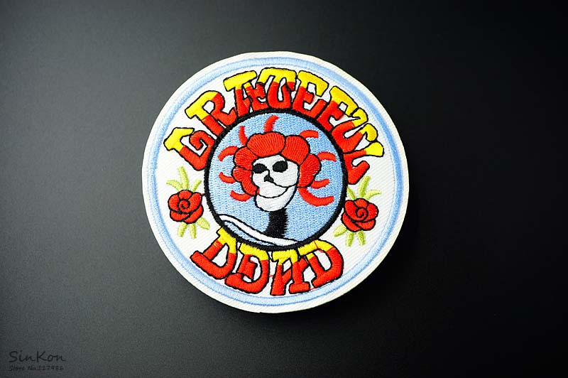 Grateful dead 90x90cm diy patches cloth patch badge embroidered dsc03873 solutioingenieria Image collections
