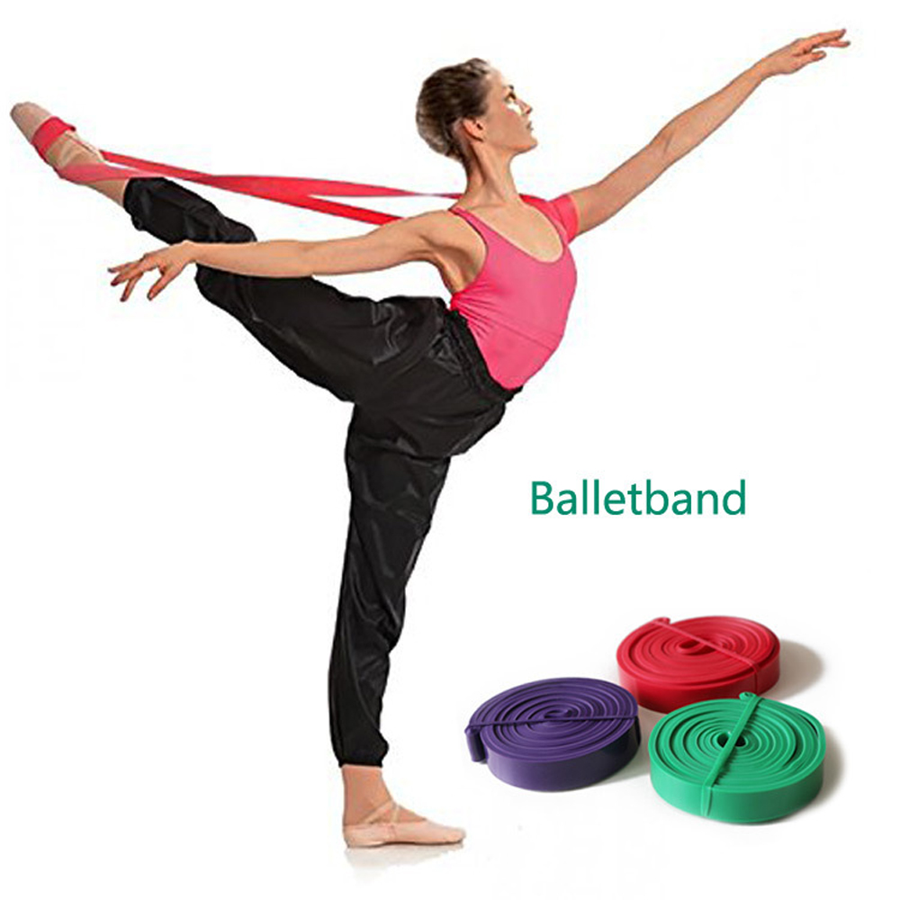 New Elastic Soft Opening Stretch Ballet Band Fitness Rubber Resistance Bands Yoga Dance Training Resistance Loops Band Crossfit