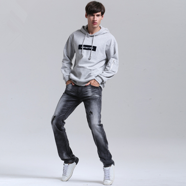 2018 Plus Size 38 40 Jeans Men Fashion Straight Denim Cotton