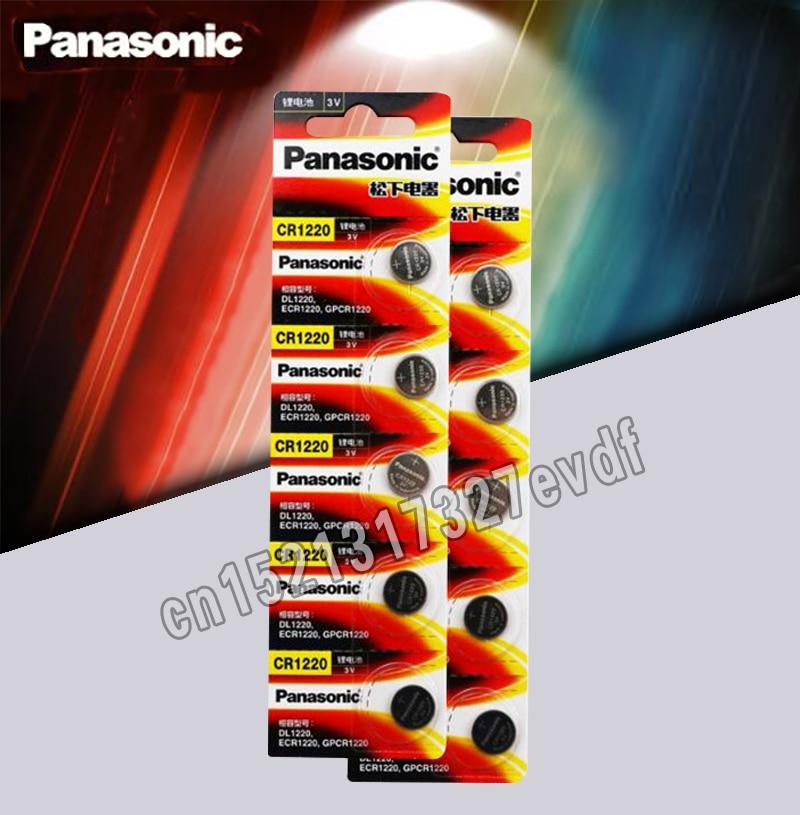 10PCS/LOT Original Panasonic CR1220 Button Cell Batteries CR 1220 3V Lithium Coin Battery BR1220 DL1220 ECR1220 LM1220