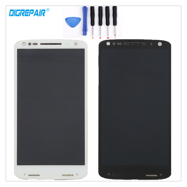 """5.43"""" inch A+ For Motorola Moto Droid Turbo 2 XT1580 XT1581 XT1585 LCD Display Touch Screen Digitizer Assembly Parts+Frame+Tools"""