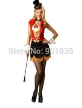FREE SHIPPING LADIES CIRCUS RINGMASTER LION TAMER OUTFIT FANCY DRESS COSTUME S,M,L,XL,2XL(China)