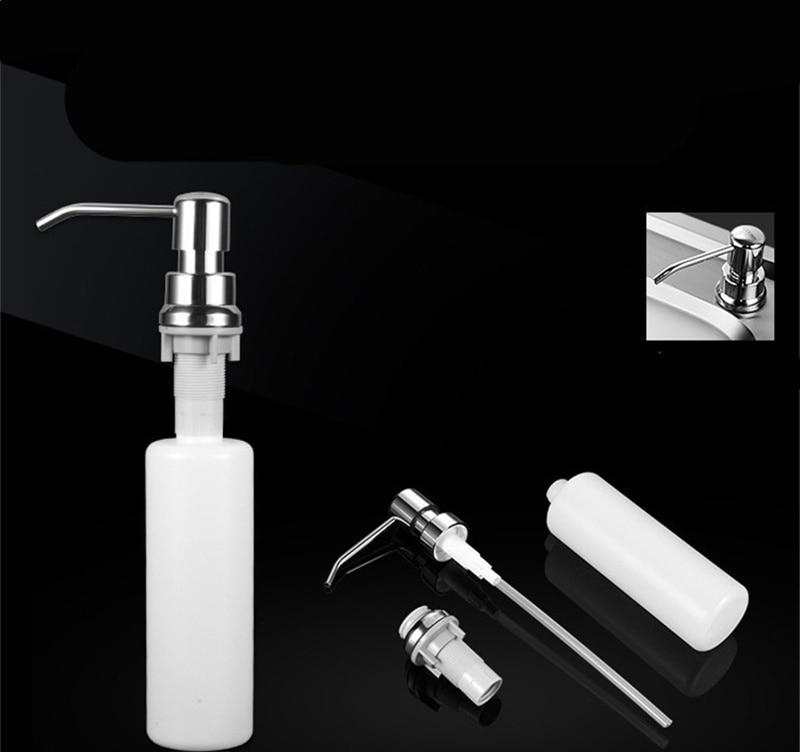 Kitchen Sink Soap Dispenser Detergent Liquid Soap Lotion Dispensers Stainless Steel Head+ ABS Dispenser 2