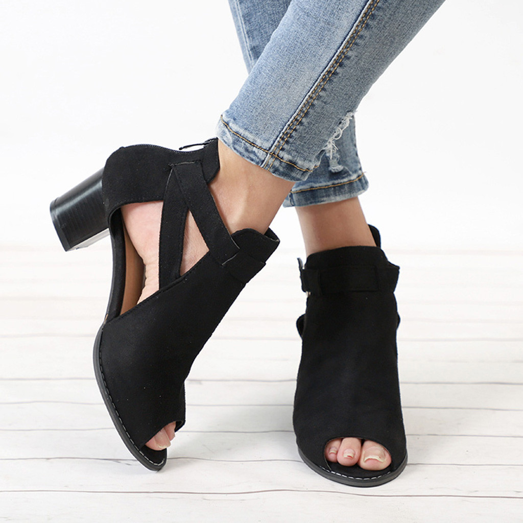 Spring Summer Ladies Women Sandals Square Heel Women's ...