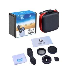 Image 5 - Apexelprofessional 4 k 와이드 렌즈 원형 편광 필터 16mm hd 슈퍼 와이드 앵글 렌즈 for iphone 6 s plus 7 htc more phone