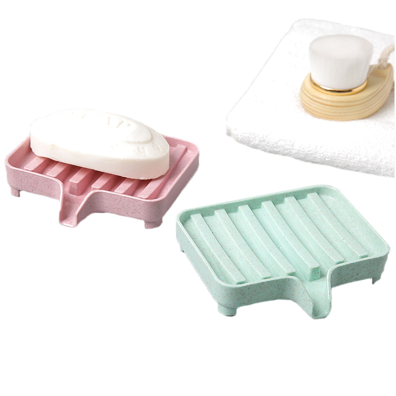 Bathroom Drain Soap Dish Storage Holders Box Dishes Kitchen Brush Drain Storage Holder Organizer Dishes