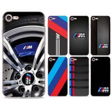 bf5e09f6a41 Moda coches BMW serie M logotipo funda de silicona para Apple iPhone 7 7  Plus 6 6 s Plus 5 5S X XR XS MAX suave de TPU teléfono .
