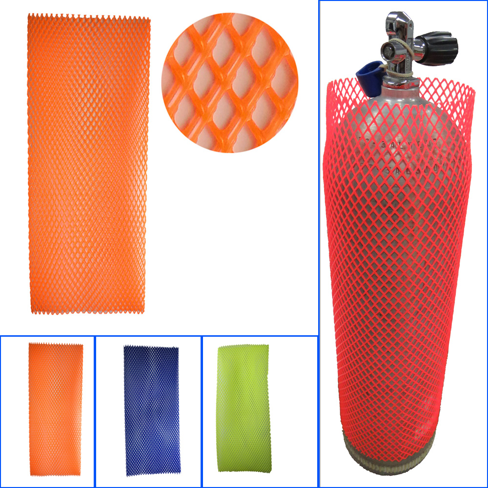 """6.9""""-8"""" Heavy Duty PVC Scuba Diving Tank Protective Mesh Dive Cylinder Tank Mesh Protection"""