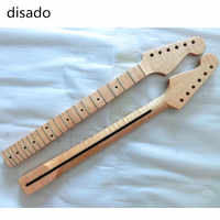 Disado 21フレット虎炎カエデ材色エレキギターネックギターアクセサリーギターラ楽器パーツ