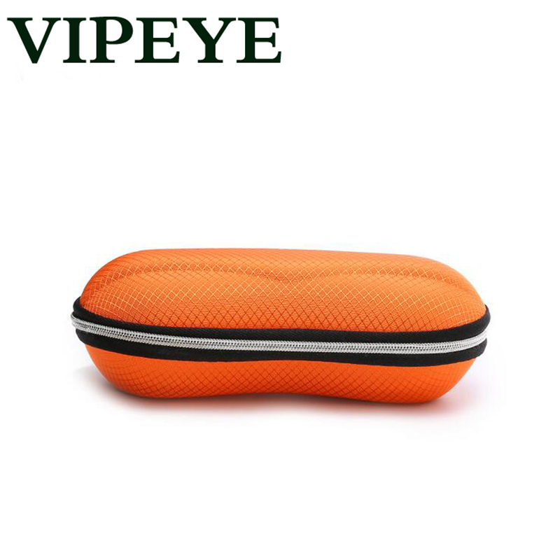 Portable Fiber Colorful Cover Sunglasses Case For Women Glasses Box With Zipper Eyewear Cases Eyewear Accessories 2018