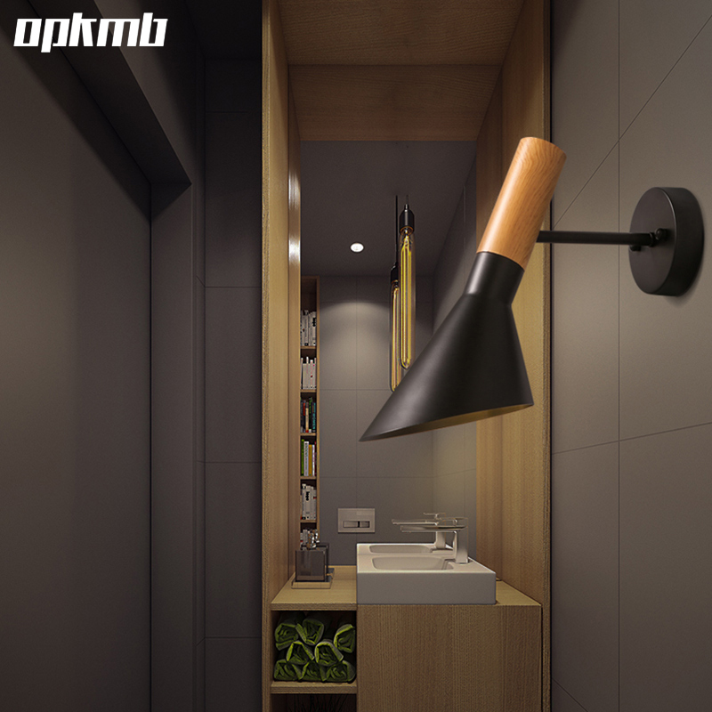 Nordic iron desk lamp  creative study table light  bedroom bedside light   living room corridors iron wall lighting