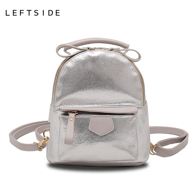 LEFTSIDE Small Crossbody Shoulder Bags Women Mini Cute Backpack Purese Leather Backpacks For Girls Multifunction Travelling Bag leftside 2017 women leather backpack children backpack mini backpack women cute back pack backpacks for teenage girls small bag