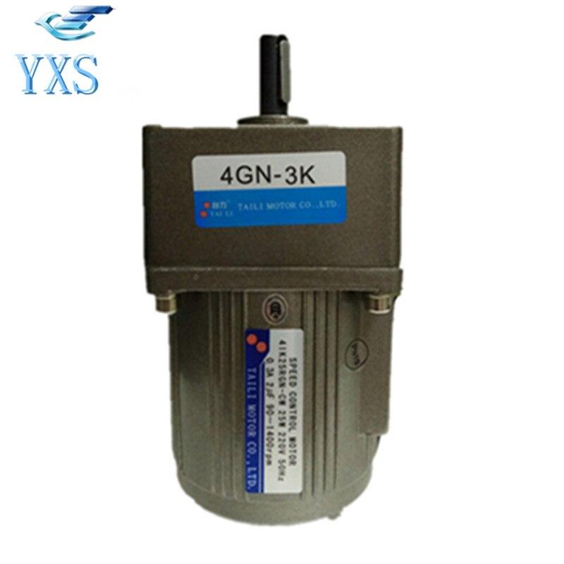 4IK25RGN C 4GN3K 25W AC 220V 50HZ 0.3A 2uF 1400RPM Speed Control Motor 4GN3K Gear Head