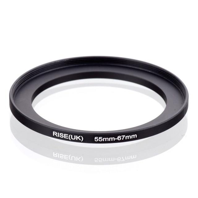 RISE (Reino Unido) anillo adaptador de filtro de metal de 55mm-67mm para todas las mismas lentes de diámetro (55-67) envío Gratis