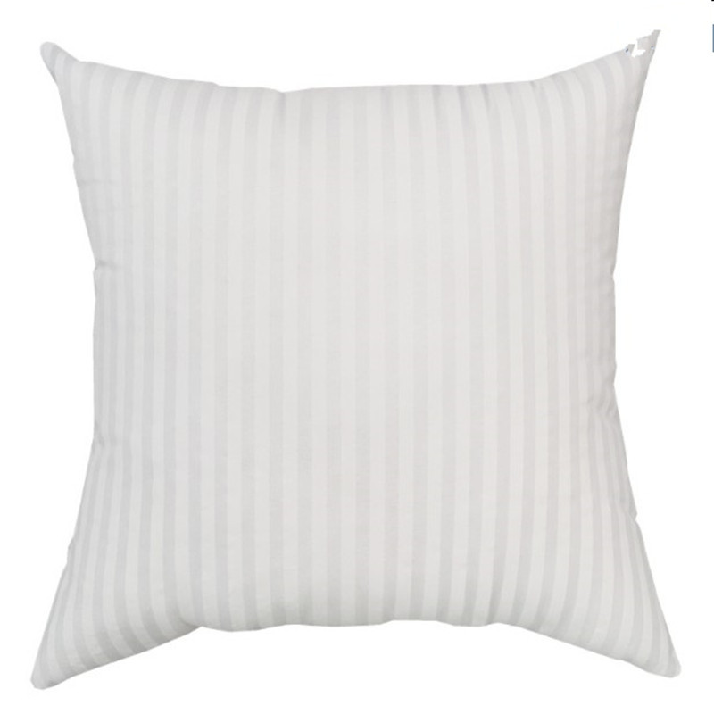 White Striped Cushion Insert Pillow 45*45 Square Soft Decorative Cushions Pillows Insert Core For Car Sofa Seat Filling 50001