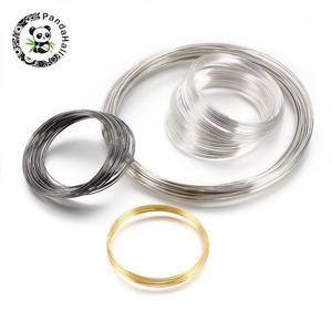 Проволока из стали с эффектом памяти для ювелирных изделий, смешанные цвета, внутренний диаметр: 55 ~ 115 мм; 0,6 ~ 1 мм, 1000 г/лот