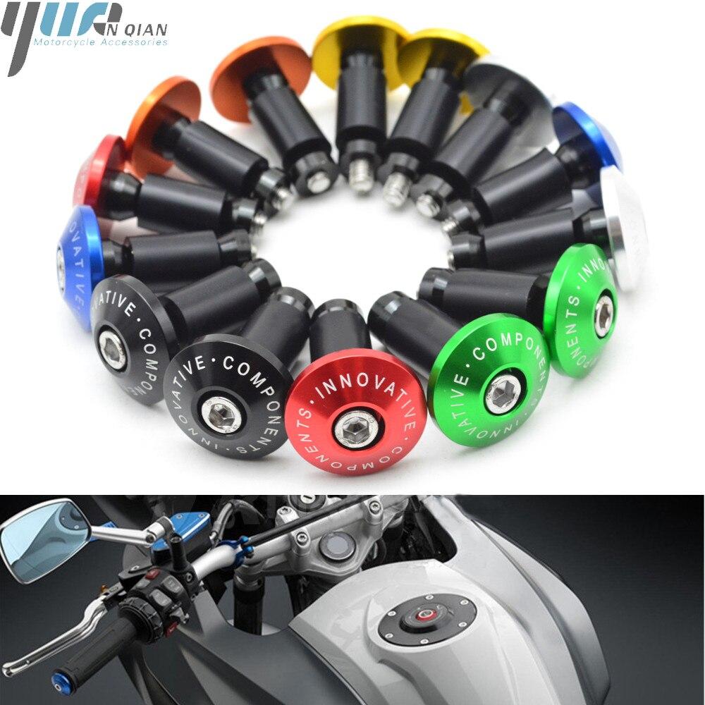 Motorcycle Dirt Bike CNC Handlebar Grips Slider Cap Plug Aluminum Bar End FOR HONDA CBR600RR R6 YZF-R6 R3 Fz16 TMax500 XT600 E