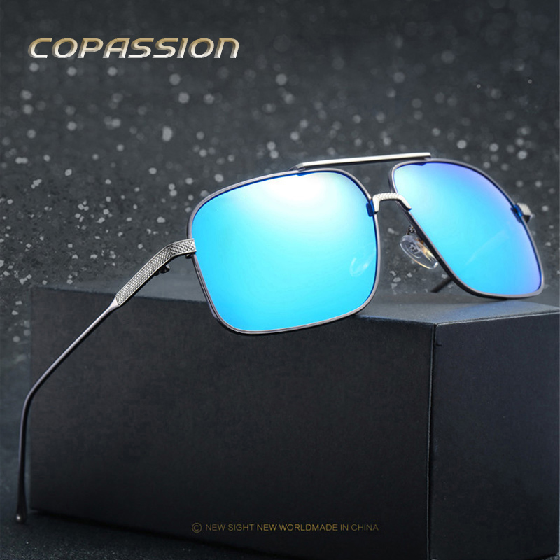 mens sunglasses brand designer polarized fishing glasses driver Retro metal frmen oculos steampunk goggles uv400 gafas de sol