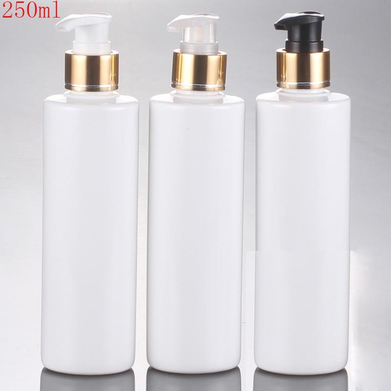 (30 개/몫) 250 ml 빈 흰색 나선형 유제 펌프 병 250cc 목욕 나사 펌프 병 포장 병-에서리필 병부터 미용 & 건강 의  그룹 1