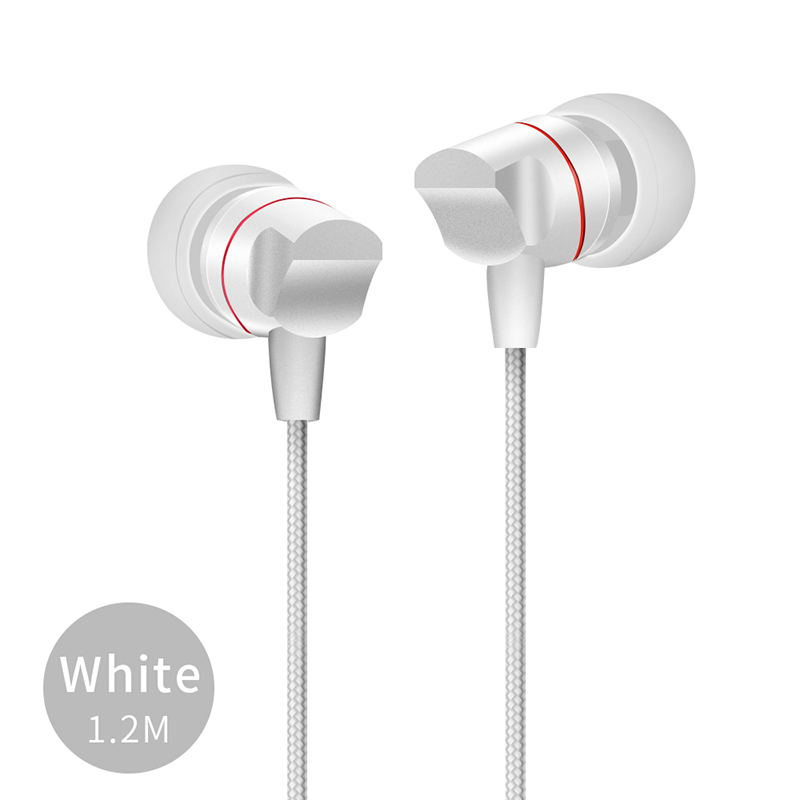 FGHGF 3.5mm Widely Compatible Earphone Aluminium Microphone Comfortable Soft Line Earphone Gaming Sport Music Headset