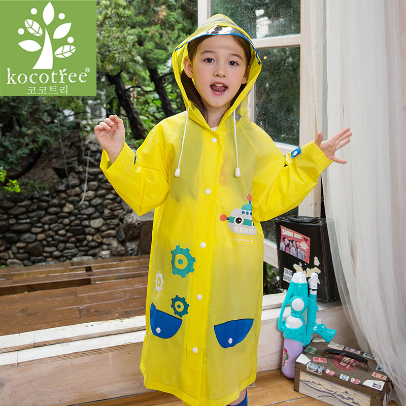 Image 4 - Students Raincoat With School Bags Cool Children RainCoat Kids rain pocket Jacket Waterproof Rain Coat Suit Children Raincoat-in Raincoats from Home & Garden
