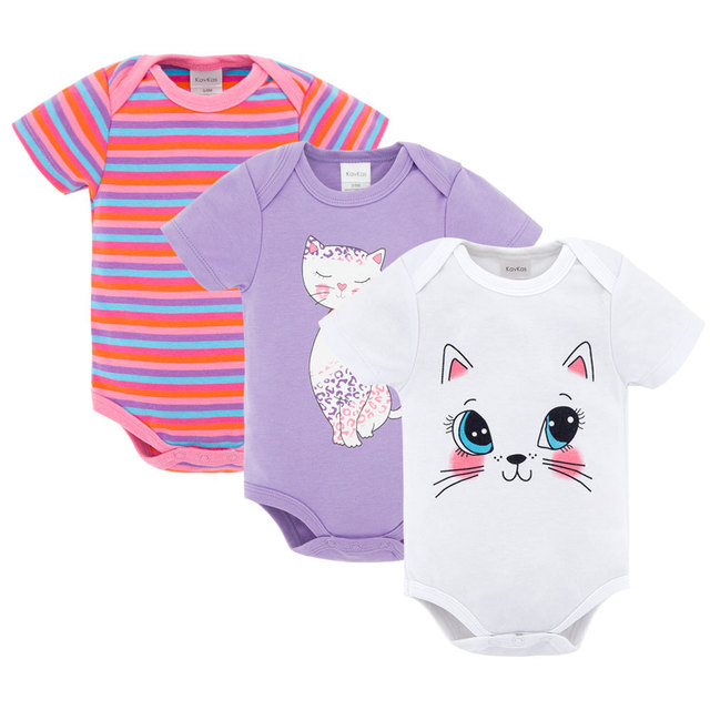 651a2d1f11a5 3 pcs ser 2017 Baby Boy Girl Short Sleeve Cotton Romper Children O ...
