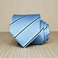 Alta Qualidade 2017 New Arrivals 7 cm Bebê Laços Azuis para Homens Marca de Estilo britânico Caixa de Presente Do Laço Gravata de Casamento Nobre Negócio Tarja