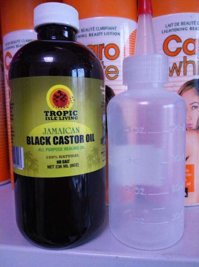 Jamaican black castor oil hair growth oil 8oz 236ml( free bottle) and eyelash growth oil