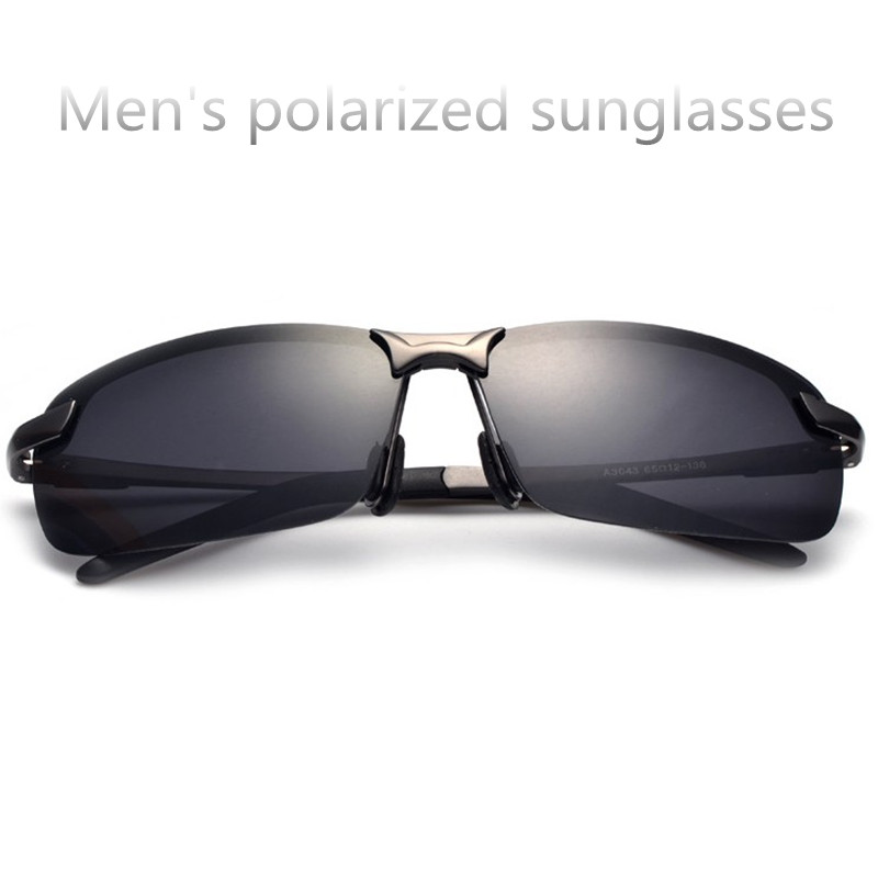 New Advanced men top quality polarized sunglasses driving beach sunglasses classic black glasses UV400 6 colors