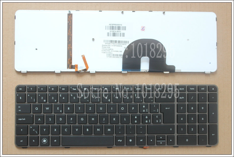 100% NEW For  HP Envy 17,17-2199EL, 17-2199EZ  17-1189EL, 17-1190CA  SWISS  laptop keyboard With backlight 610914-BG1 new russian for hp envy x2 11 g000 g003tu tpn p104 hstnn ib4c c shell ru laptop keyboard with a bottom shell