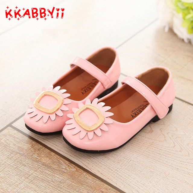 New spring flower girl shoes party dress shoes princess pink white new spring flower girl shoes party dress shoes princess pink white peach children fashion leather shoes mightylinksfo