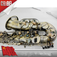 High quality alto saxophone / wind Down E tone Green bronze Antique Sax  Special promotion