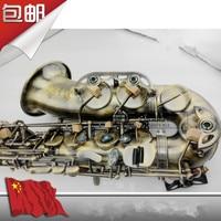 High Quality Alto Saxophone Wind Down E Tone Green Bronze Antique Sax Special Promotion