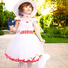 white tutu dress Baby Girl First Birthday Christmas Halloween Costume Sofia Dress Fancy Kids Party Wear Toddler Children clothes