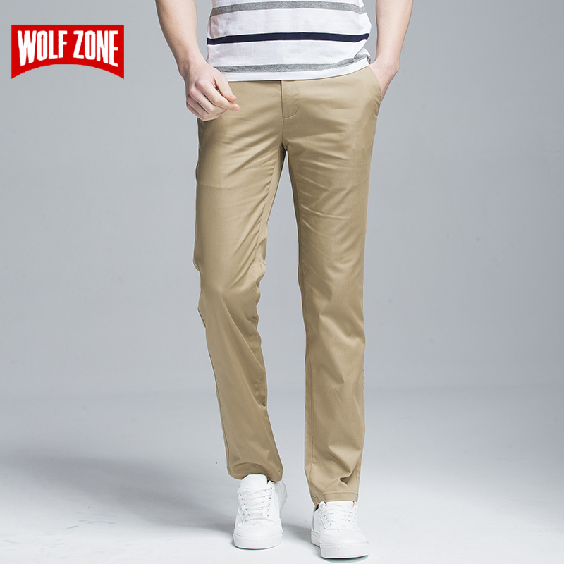 Fashion Cotton Long Men Pants Spring and Summer High Quality Classic Straight Mid Full Length Business Casual Men's Trousers