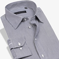 Nova Moda Clássico Não-Ferro camisas Casuais 100% Algodão Camisa Formal Dos Homens de Negócios camisas de vestido ocasional Slim fit striped Masculina