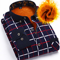 Flannel Plaid Shirt with 2015 men in formal dress shirt sleeved cashmere brand Business affairs Add thick free shipping