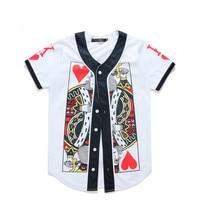 Free shipping harajuku men t shirt streetwear 3D poker printing mens baseball tshirt mens t shirts fashion 2019