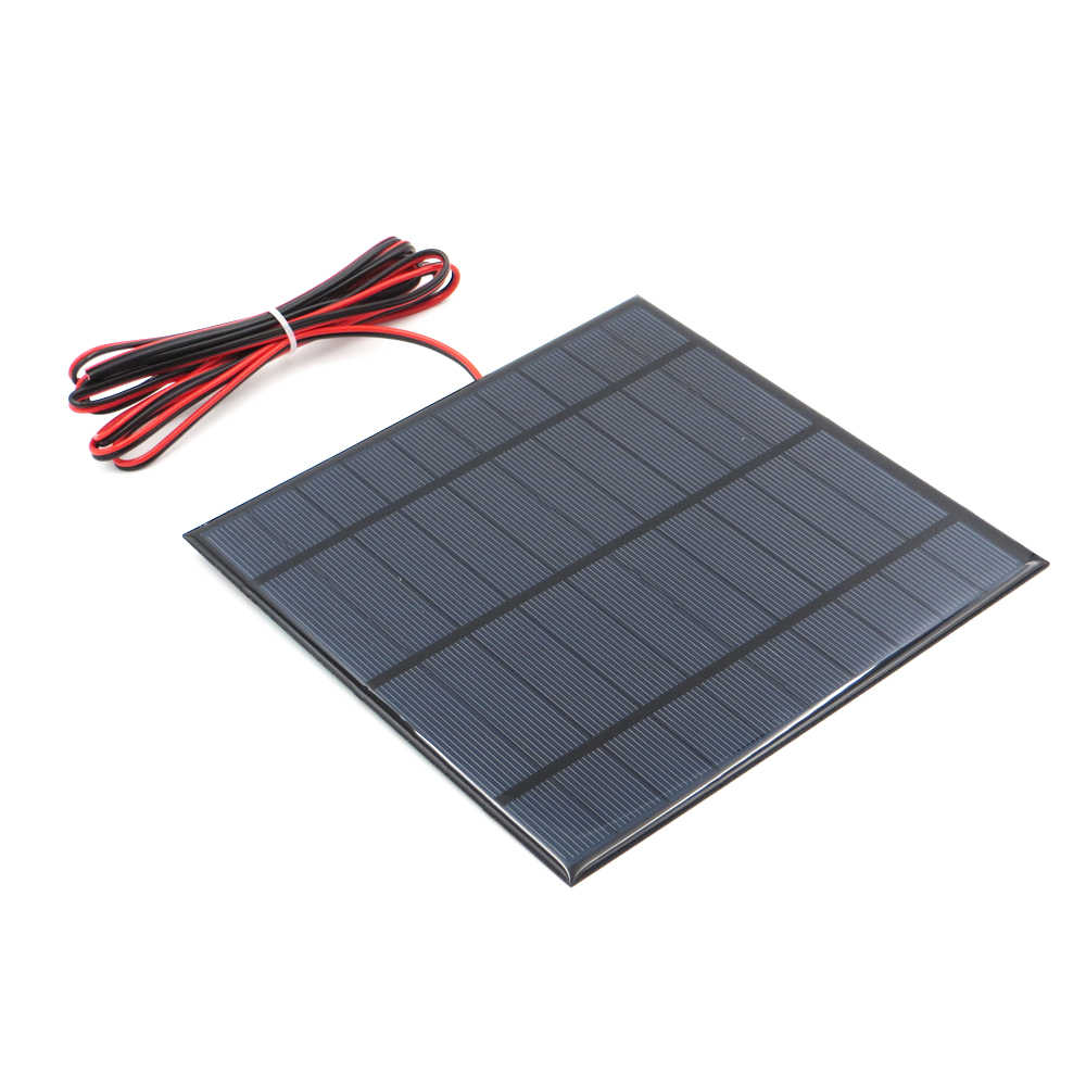 5 V 4.2Watt W 840mA Solar Panel Polycrystalline Silicon DIY Battery Charger Small Mini Solar Cell cable toy 5V 4.5W Volt 5W