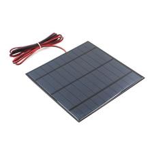 5 в 4,2 Вт 840ма солнечная панель поликристаллического кремния DIY зарядное устройство маленький мини Солнечный Кабель игрушка 5 в 4,5 Вт вольт 5 Вт
